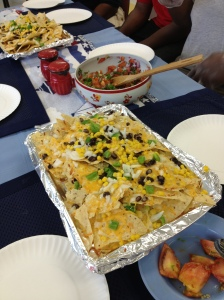 nachos and pico de gallo