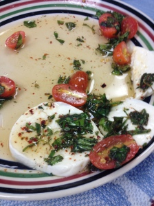 mozzerella and tomatoes