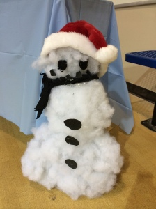 student-made snowman