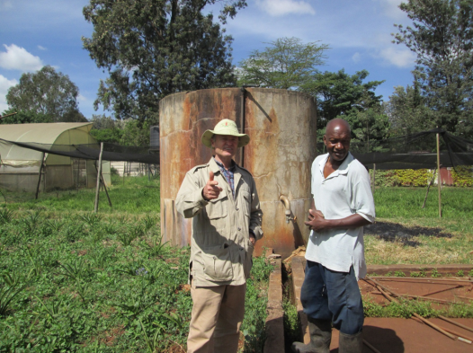 Irrigation tank in Kenya